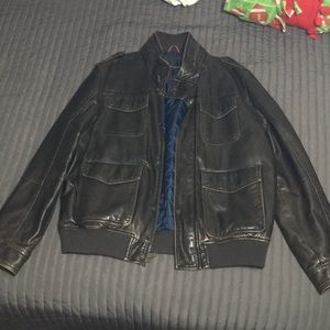 Tommy Hilfiger Leather bomber jacket